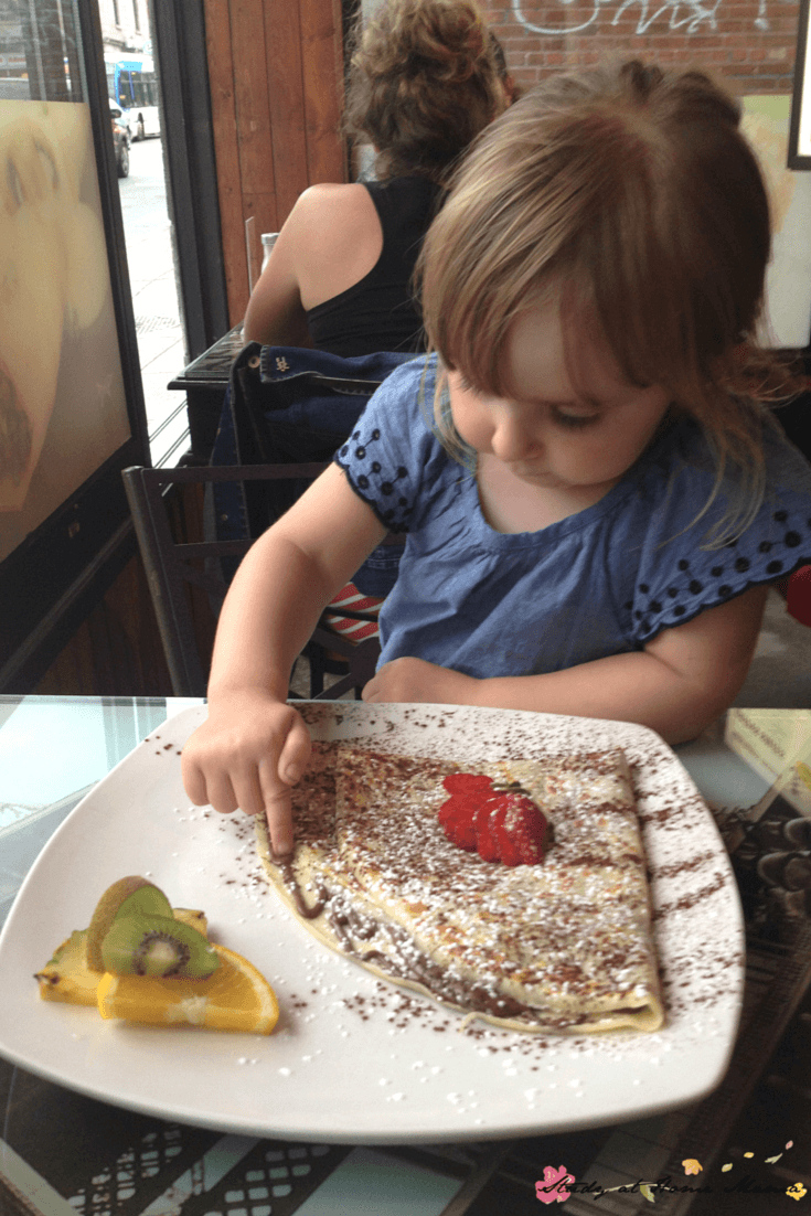 Une Crepe - one of our top ten favourite family-friendly restaurants in Montreal!