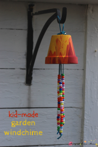 Kid-made Garden Windchime