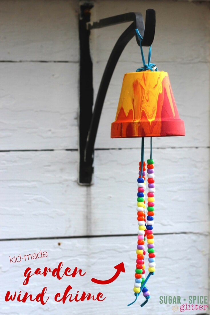 Kid Craft Ideas Part - 34: Kid Craft Idea: Homemade Garden Wind Chime, A Sweet Gift And A Great Way