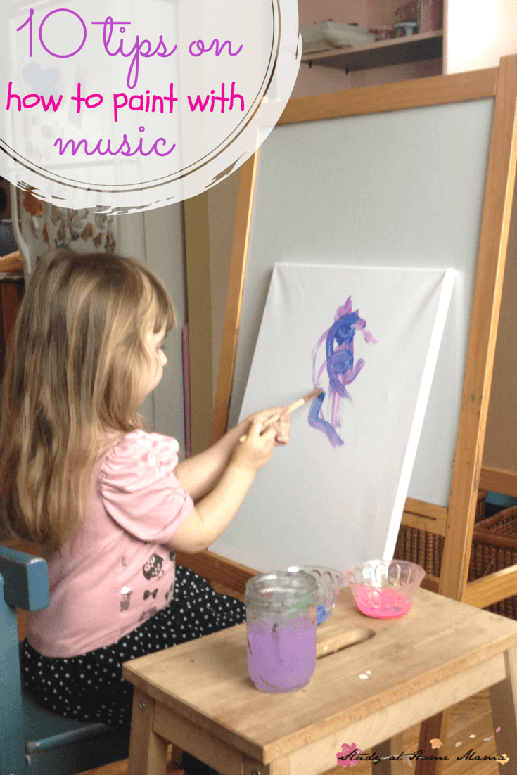 10 Tips on How to Paint with Music with Kids