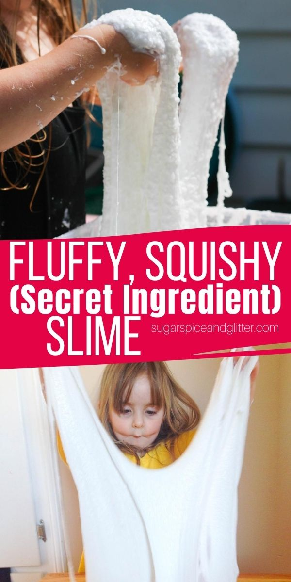 A super easy 3-ingredient slime recipe for the squishiest, fluffiest and stretchiest slime ever! This amazing textured slime is made with a secret ingredient for an amazing and unique slime your kids will love