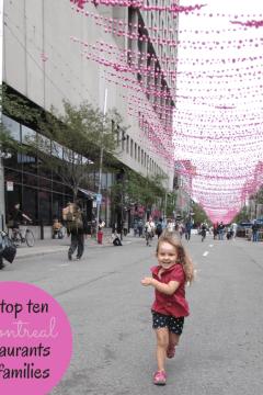Top Ten Montreal Restaurants for Families