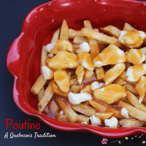 Kids Kitchen: Easy Poutine Recipe - a traditional Canadian treat, poutine is easy to make at home. Crispy french fries and chewy cheese curds, smothered in gravy. YUM!