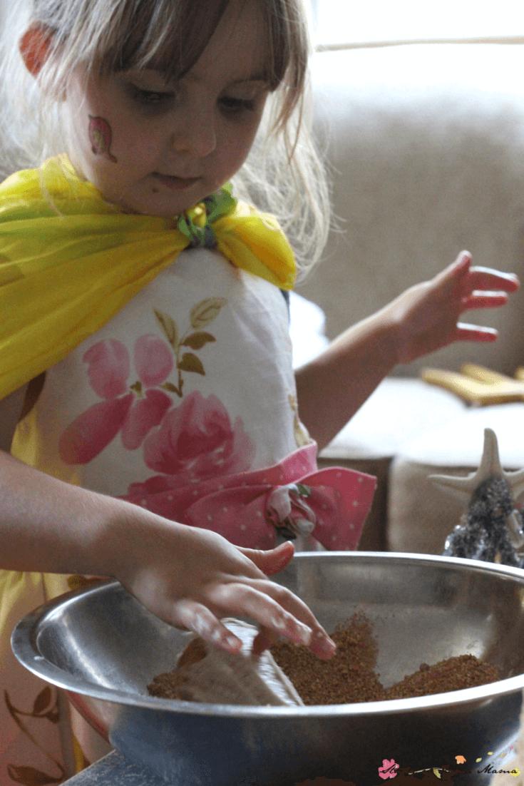 "Sugar cones make perfect ""turrets"" for a homemade sand castle cake"