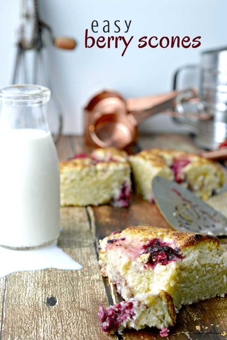 Kids Kitchen: Easy Berry Scones recipe - an easy healthy recipe for a breakfast scone or afternoon treat. Serve with clotted cream & jam for a decadent tea