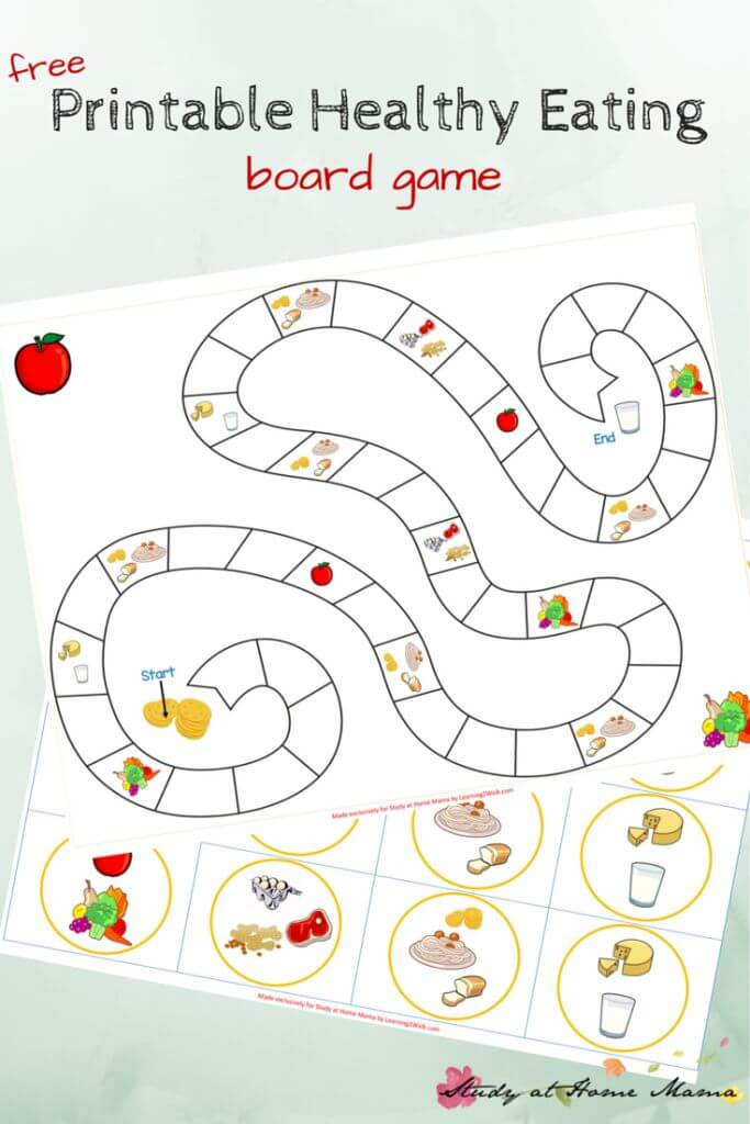 Food Worksheets For Preschoolers : Kids kitchen healthy eating game printable ⋆ sugar spice