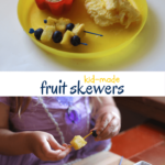 Kids Kitchen: Minion Fruit Skewers