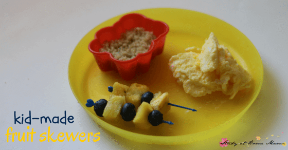 Kids Kitchen: Kids can make fruit skewers - an easy healthy snack idea for kids!