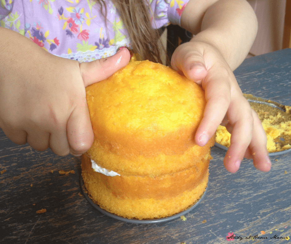 Making a homemade mango cake with kids is super easy and a great way to instill kitchen confidence