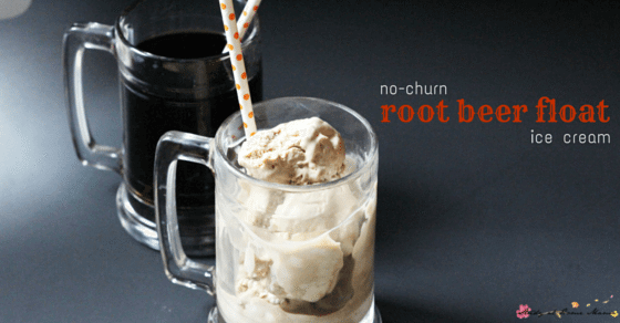 Kids Kitchen: No-Churn Ice Cream Recipe for Root Beer Float Ice Cream. Easy dessert recipe for a quick summer treat that can be made by kids in the kitchen