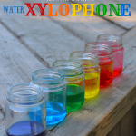 Kids Kitchen Water Xylophone Science Experiment