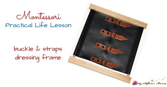 Teach your child how to dress himself or herself by using Montessori practical life lessons and Montessori dressing frames