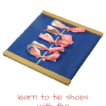Montessori Practical Life Lesson: Bow-Tying Dressing Frame