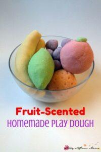 Fruit-Scented Homemade Play Dough