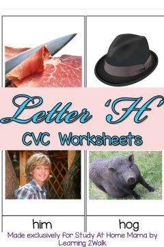 CVC Worksheets: H CVC Words
