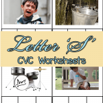 CVC Worksheets: S CVC Words
