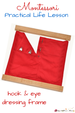 Montessori Practical Life Lesson: The Hooks and Eyes Dressing Frame
