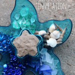 Ocean Play Dough Invitation & Mermaid Play Dough Kit