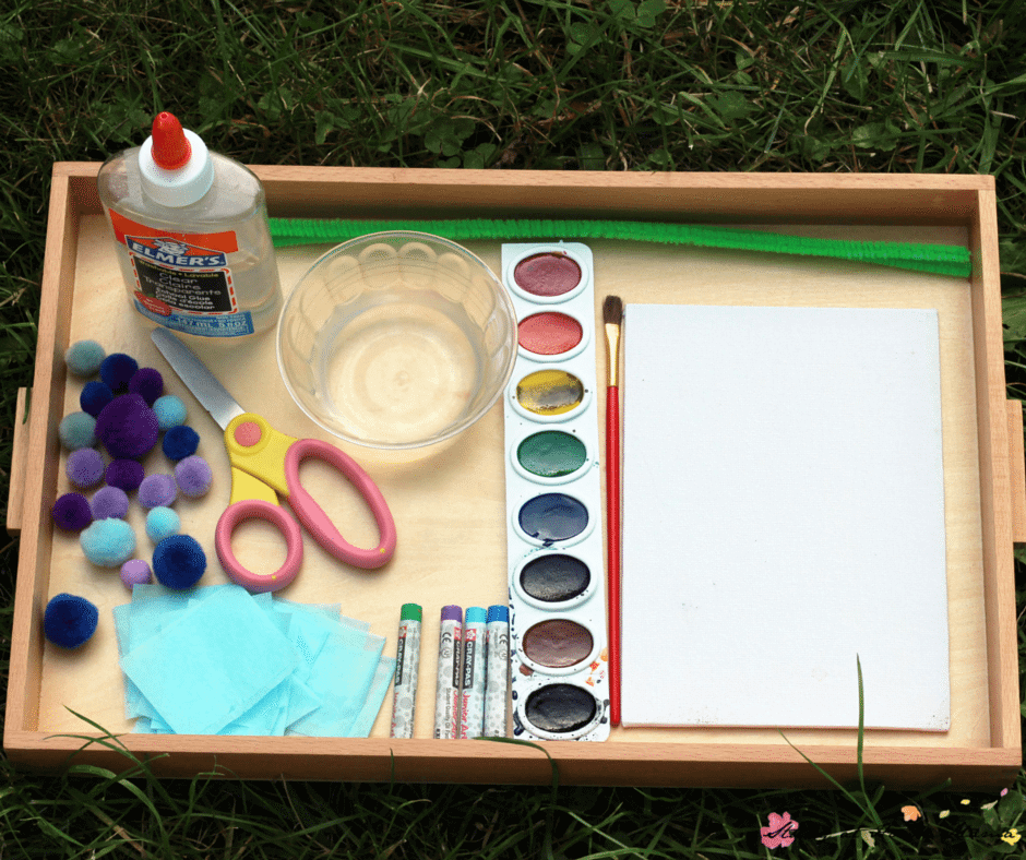 Materials Needed for this Kids' Craft Idea: Flower Craft Provocation inspired by Miss Rumphius