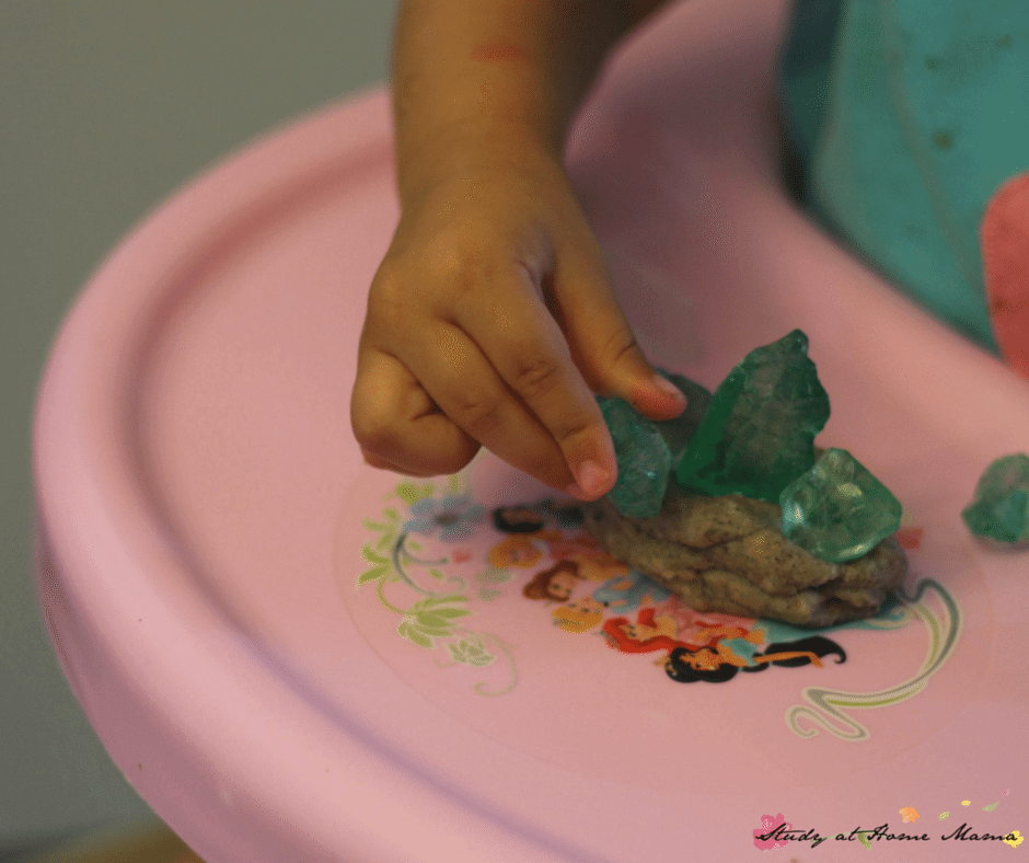 Providing tools and treasures alongside homemade play dough allows for sensory sensitive children to also engage in sensory activities for kids!