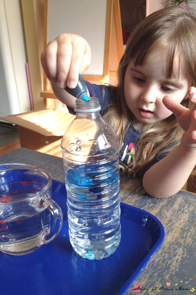 Create your very own wave in a bottle, while conducting a simple science experiments for kids