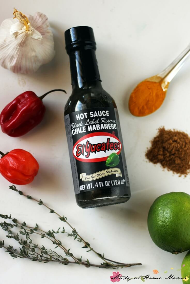 Delicious smoky habanero grilled chicken marinade, featuring my favourite hot sauce - seriously, the best.