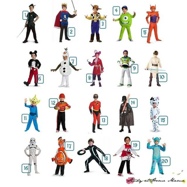 How cute are these Disney Costumes for Boys?