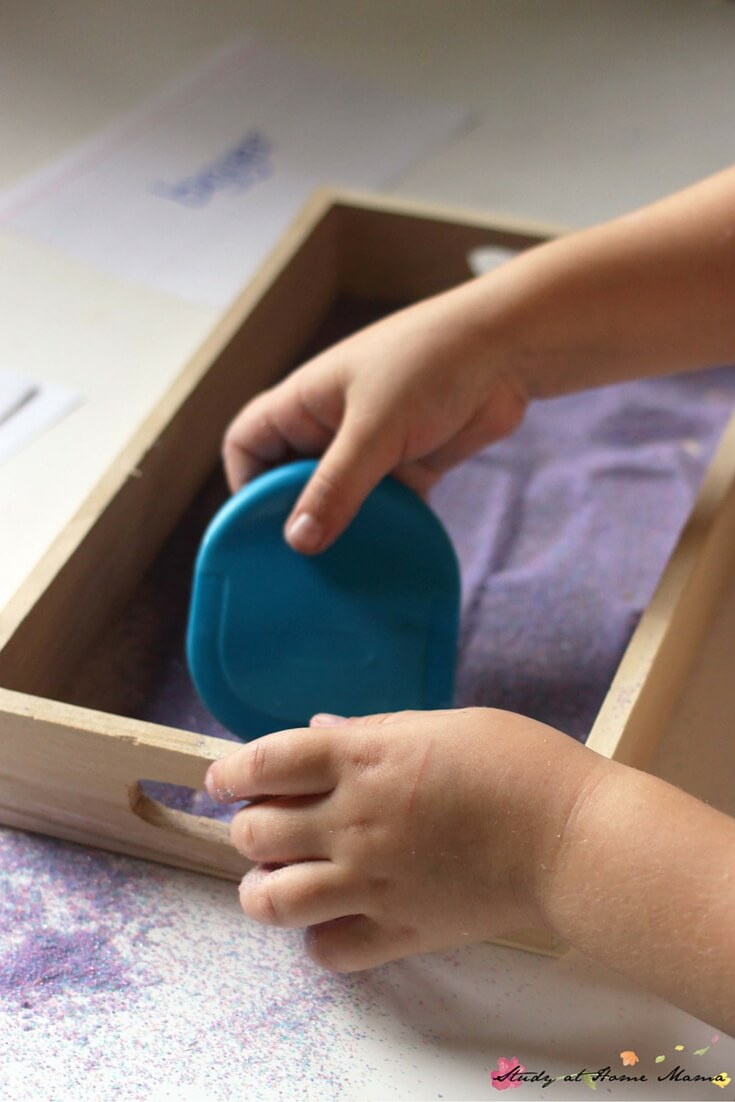Where the Wild Things Are Book Activity: resetting the Montessori Sand tray