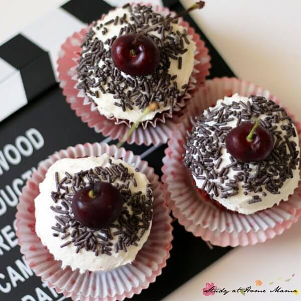 Oh my gosh, these black forest cupcakes are so cute - and they sound delicious!