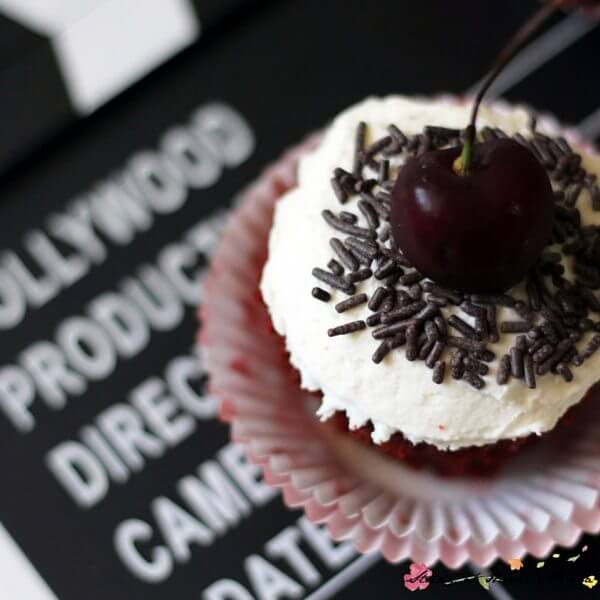 Real black forest cupcakes with homemade whipped cream topping - sound amazing.