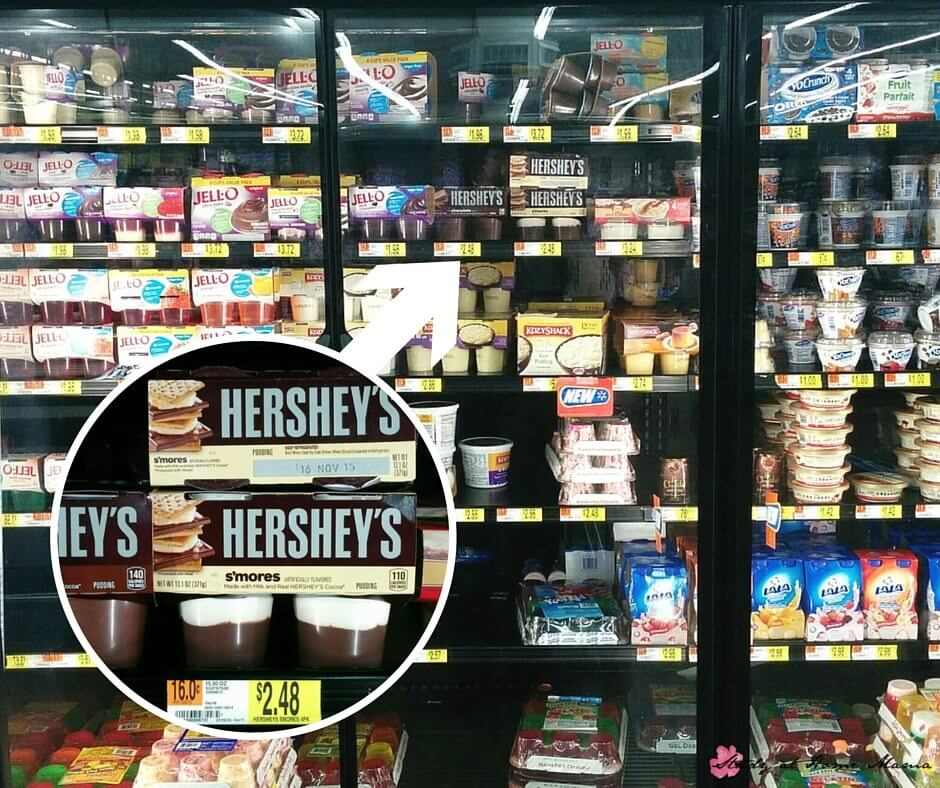Where to find Hershey's ready to eat pudding at Walmart