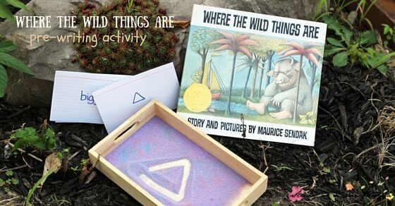 Where the Wild Things Are Activity - Pre-writing and math activity using simple materials you probably already have at home (plus an explanation into the hidden meanings of the book!)