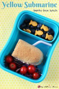Yellow Submarine Bento Box Lunch