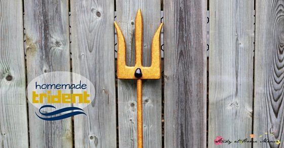 Homemade Trident - the perfect homemade toy for the child obsessed with Mako Mermaids. A simple DIY toy for hours of mermaid pretend play
