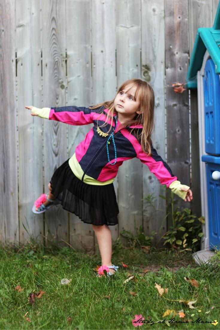 How to do Dancer Pose for kids, easy kids yoga for fall