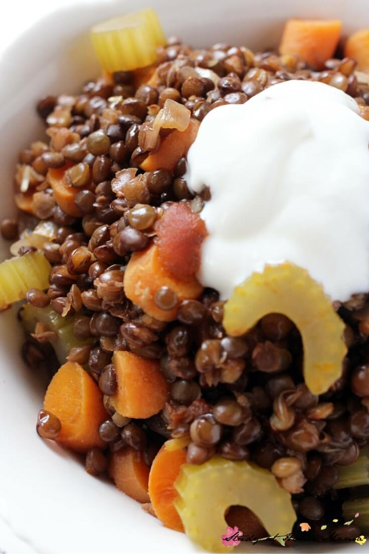 Oh yum, this lentil stew recipe looks like the perfect comfort meal for cold weather. A hearty and frugal supper to keep the whole family happy