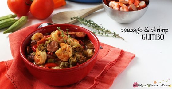 Sausage & Shrimp Gumbo - a classic southern comfort food with step by step instructions and amazing flavour.