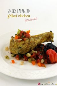 Smoky habanero grilled chicken recipe with fresh salsa
