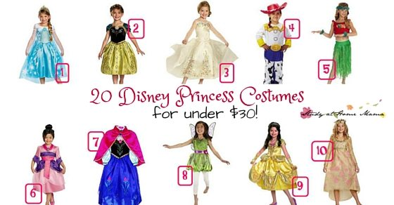 20 Disney Princess Costumes  sc 1 st  Sugar Spice and Glitter & 20 Disney Princess Costumes under $30 ? Sugar Spice and Glitter