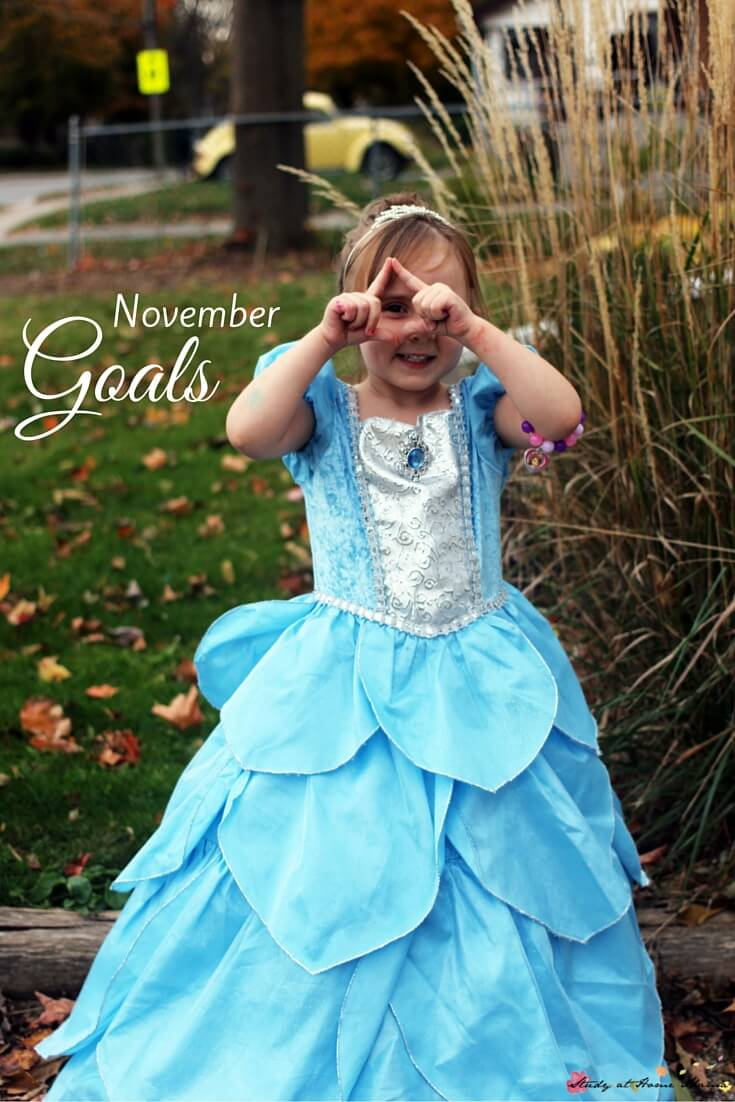 November Goals - prioritizing family by outsourcing, letting go of complete control, and saying no to others so I can say yes to my family more often