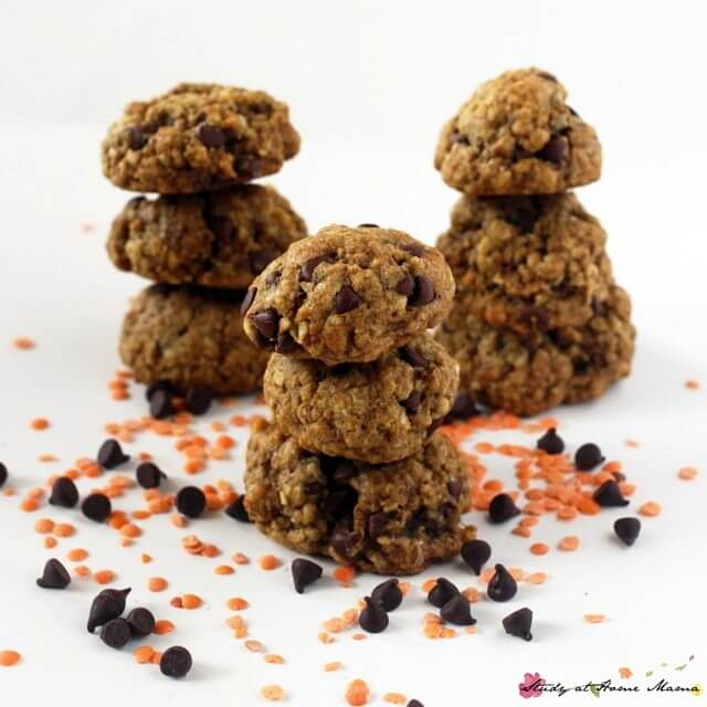 Yes, you can have a healthy chocolate chip cookie that still tastes great! These lentil chocolate chip cookies are protein-packed with a good dose of fiber, too, making them a delicious treat you can feel good about
