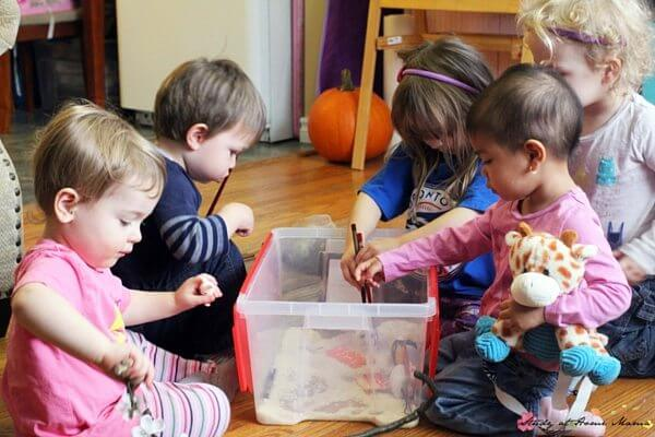 Book-inspired Sensory Play - inspired by Yoko by Rosemary Wells, this sweet small world set-up teaches about acceptance and diversity, & Japanese culture