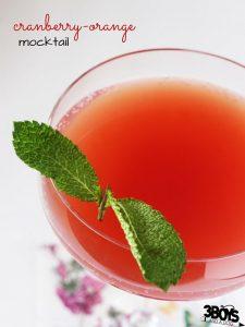 Cranberry-orange mocktail