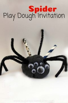 Spider Play Dough Invitation