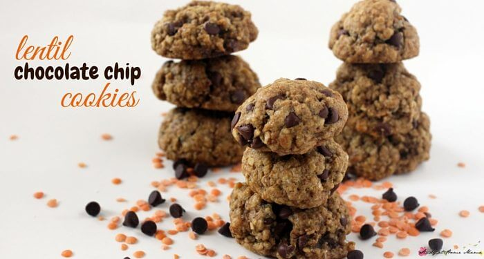 Looking for an easy HEALTHY recipe for cookies? These healthy chocolate chip cookies are protein-packed with a good dose of fiber, and taste delicious!