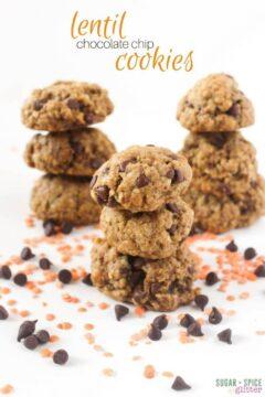 Lentil Chocolate Chip Cookies
