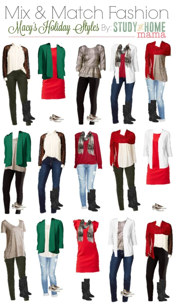 Holiday fashion help as arrived with this helpful post on Mix & Match Fashion on Study At Home Mama. Busy moms will find where to shop this holiday season and the best way to save time and money will look and feeling wonderful!