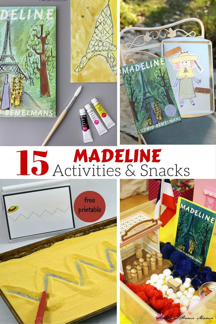 Do your kids love Madeline as much as mine do? This collection of 15 Madeline Activities & Snacks inspired by the classic book has everything from art, to gross motor activities, to snacks and everything in between!