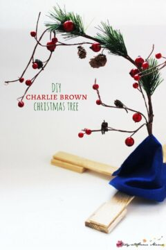 DIY Charlie Brown Christmas Tree