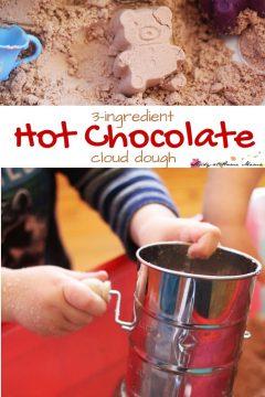 Hot Chocolate Cloud Dough